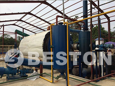 Sludge-oil-pyrolysis-plant