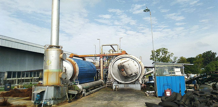 BLJ-10 Pyrolysis Plant In Indonesia